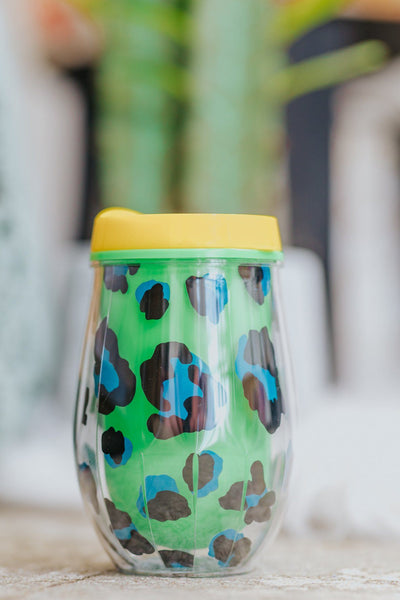 Come With Me Stemless Wine Tumbler in Green - Filly Flair