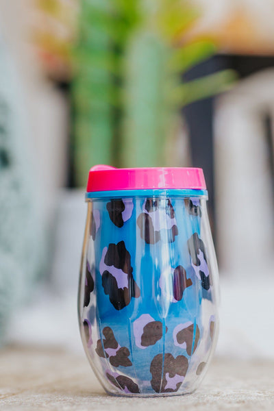 Come With Me Stemless Wine Tumbler in Blue - Filly Flair