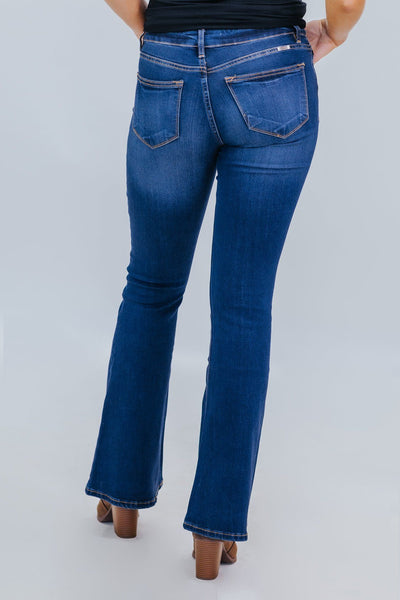 Klarissa KanCan Mid Rise Flare Jeans - Filly Flair
