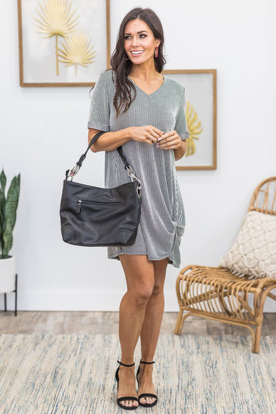 Classy And Fabulous Hobo Bag in Black - Filly Flair