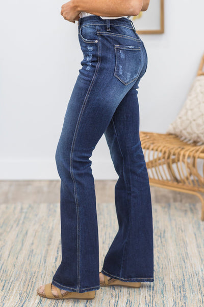 Kaari KanCan Dark High Rise Flare Jean - Filly Flair