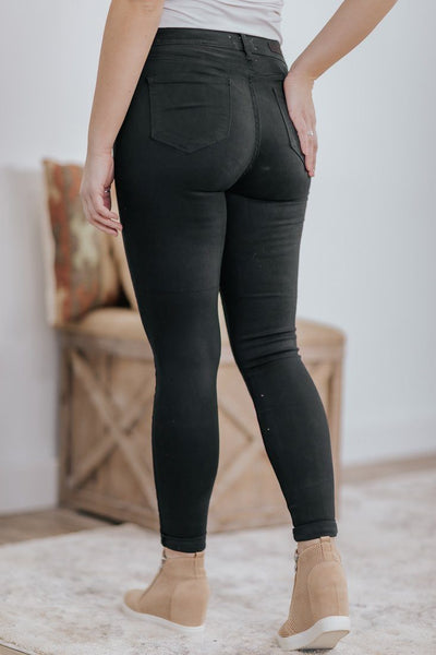Conor Cello High Rise Super Skinny Jeans in Black - Filly Flair