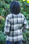 Wish This Never Ends Plaid Zip Up Flannel Jacket in Grey - Filly Flair