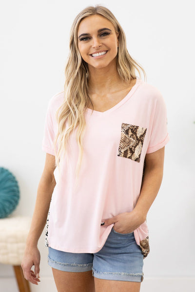 Breaking the Habit Top in Blush - Filly Flair