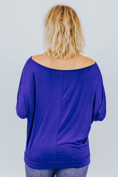 Can't Keep A Secret Dolman In Royal Blue - Filly Flair