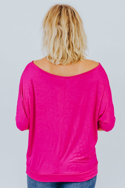 Can't Keep A Secret Dolman In Fuchsia - Filly Flair