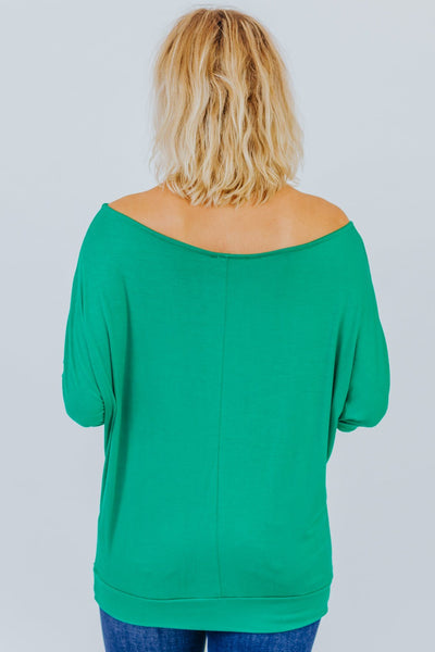 Can't Keep A Secret Dolman In Green - Filly Flair