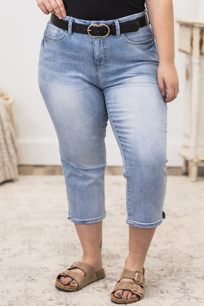 Winds Carry Me Curvy Capri Jeans - Filly Flair
