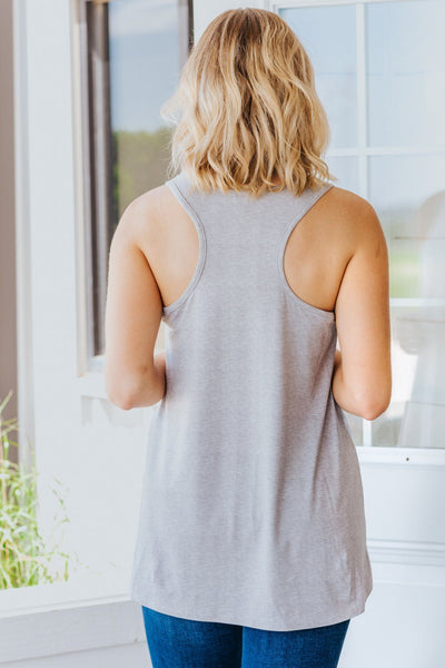 Chasing Dreams Tie Dye Razor Back Tank Top in Grey - Filly Flair
