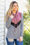 Some Say Chevron Color Block Striped Top - Filly Flair