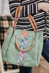 Always On The Go Aztec Hand Bag in Green - Filly Flair