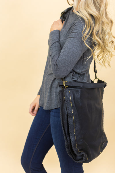 Meet Me There Stud Detail Purse in Black - Filly Flair
