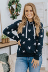 Bright Like A Star Pullover Hoodie in Navy - Filly Flair