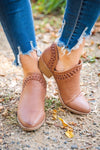 Keeping It Casual Booties in Light Brown - Filly Flair
