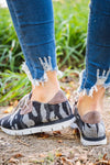 Real Women Sneakers in Grey Black Camo - Filly Flair
