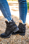 Bombshell Lace Up Booties in Black - Filly Flair