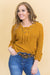 Neverland Fairy Tales Lace-Up Sweater In Mustard