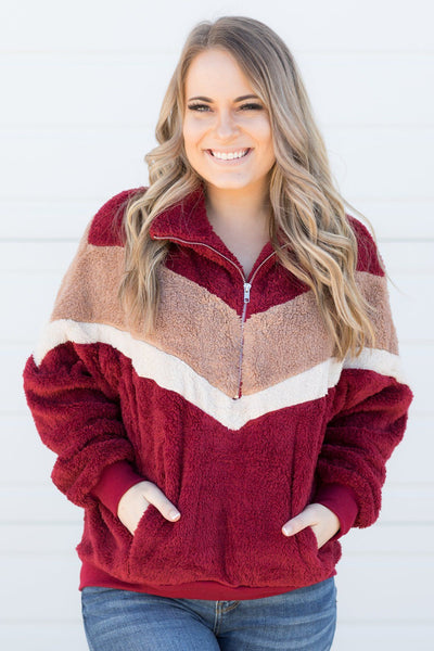 What You Deserve Pullover in Burgundy - Filly Flair