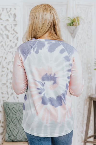 Georgia On My Mind Tie Dye Long Sleeve Top in Multicolor - Filly Flair