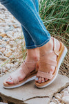 Hello Summer Goodbye Heart Criss Cross Sandal in Rose Gold - Filly Flair