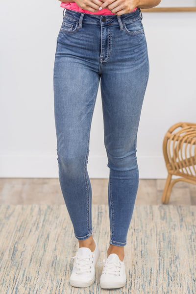 Cate Cello Medium High Rise Skinny Jeans - Filly Flair