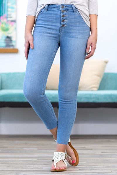 Connor Cello Light Wash High Rise Five Button Skinny Jeans - Filly Flair