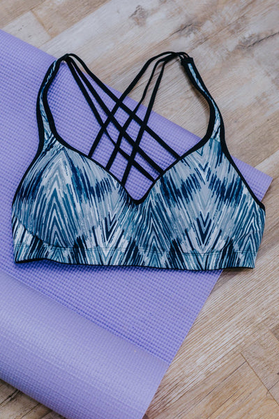 Stroke of Genius Strappy Sports Bra in Black - Filly Flair