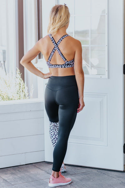 Love On Repeat Patchwork Yoga Set in Leopard - Filly Flair