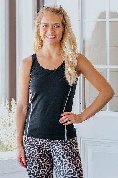 Freedom Finder Criss Cross Back Sleeveless Tank in Black - Filly Flair