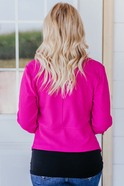 Keeping It All Together Light Weight Blazer in Magenta - Filly Flair