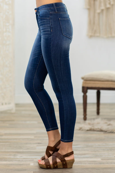 Connor Cello High Rise Medium Wash Crop Skinny Jeans - Filly Flair