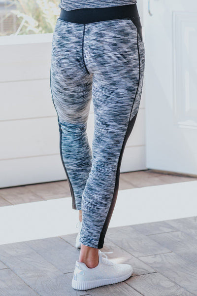 Real Good Feeling Elastic Spandex Leggings in Heathered Black - Filly Flair