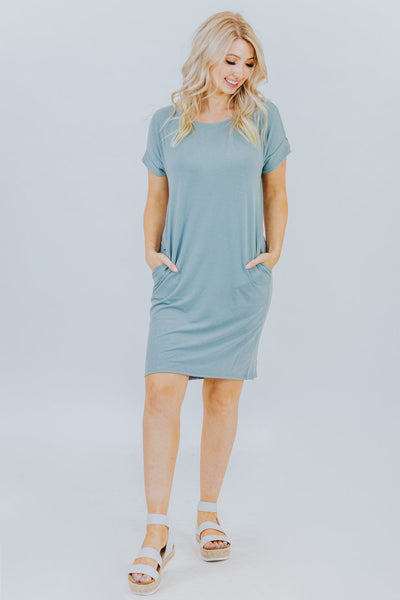 Got Your Back Short Sleeved Dress in Light Green - Filly Flair