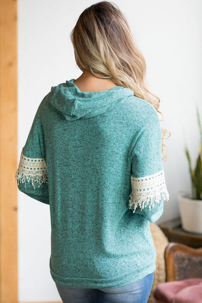 Crazy Comfy Hoodie In Jade - Filly Flair