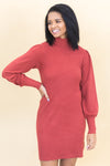 Hug Me In Clothing Lightweight Jersey Knit Dress In Rust - Filly Flair