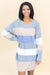 Mi Casa Su Casa Sweater Dress In Earth Tone Stripes