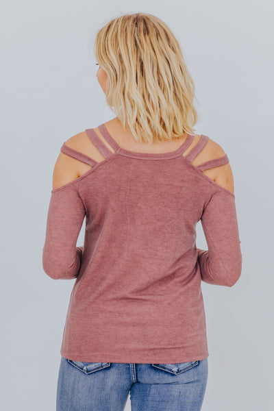 Risky Business Top in Vintage Marsala - Filly Flair