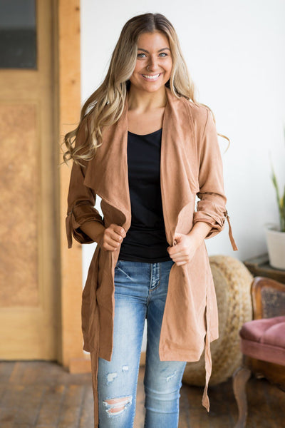 Keeping Promises Jacket in Camel - Filly Flair