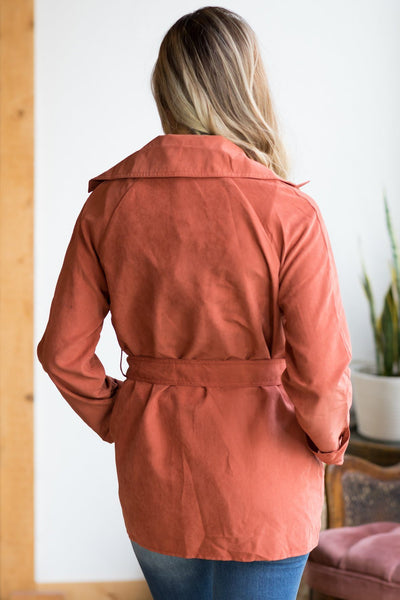 One Of The Good Ones Jacket in Rust - Filly Flair