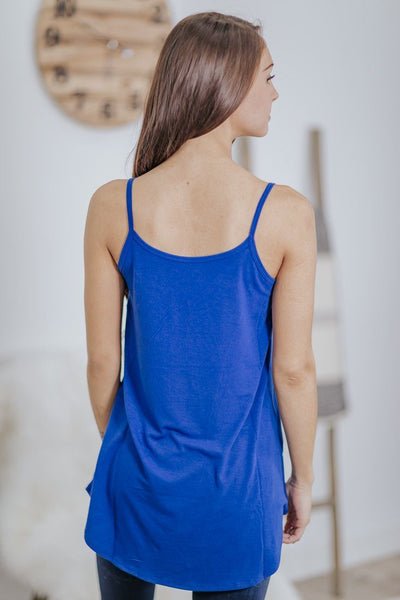 Take Me As I Am Reversible Tank Top in Mid Navy - Filly Flair