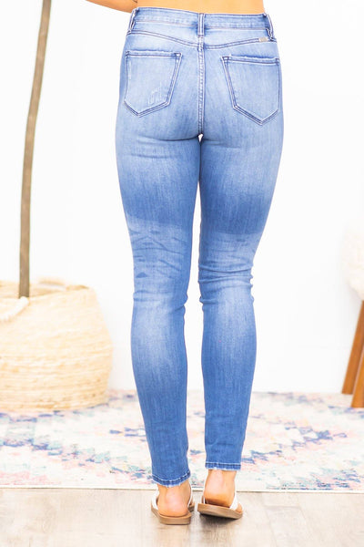 Kera KanCan High Rise Super Skinny 5 Front Button Jeans - Filly Flair