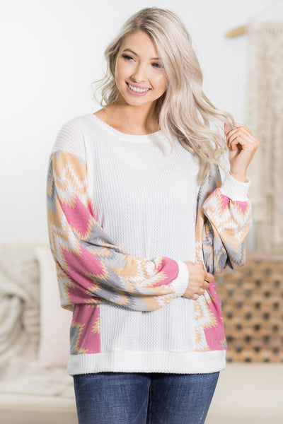 Raised On it Dolman Top in Off White - Filly Flair