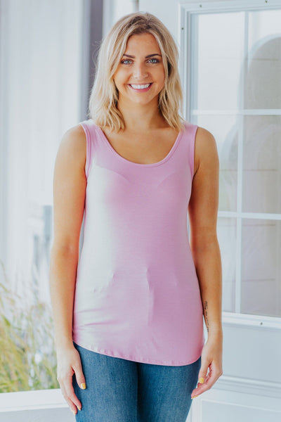 Beautiful Day Tank in Mauve - Filly Flair