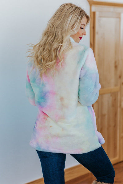 Brighter than the Sun Tie Dye Sherpa - Filly Flair