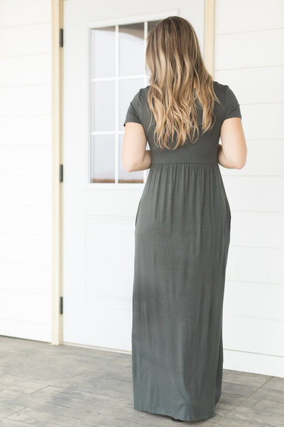 Just Like Heaven Maxi Dress in Olive - Filly Flair