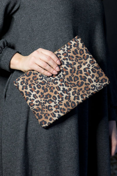 You're The One Leopard Print Double Zipper Versi Bag in Brown - Filly Flair