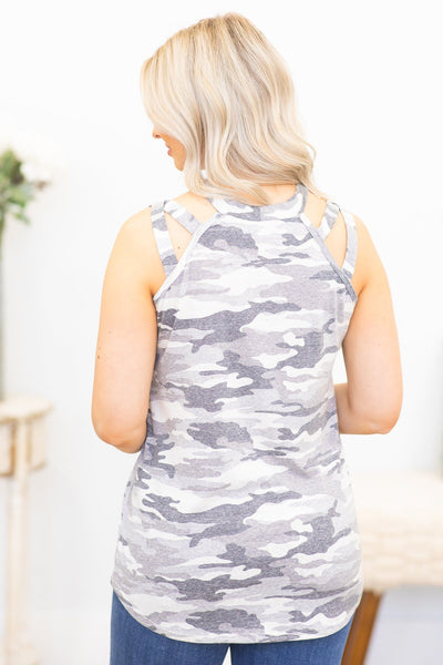 Always Here Tank Top in Grey - Filly Flair