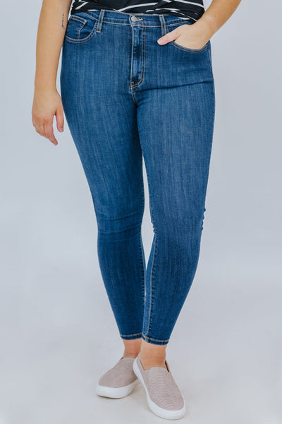 Jackie Judy Blue High Rise Skinny Jeans - Filly Flair