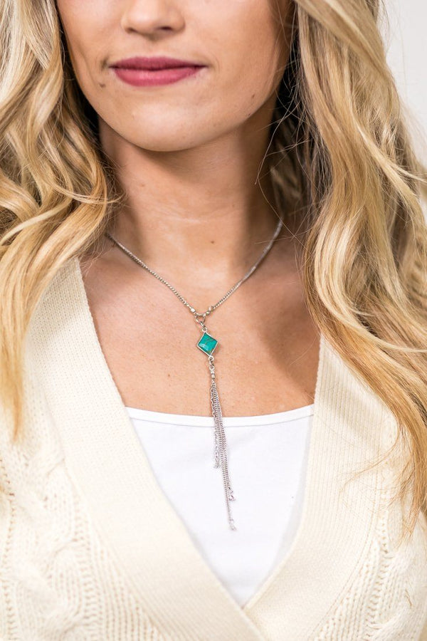 Long Time Coming Turquoise Stone Necklace - Filly Flair