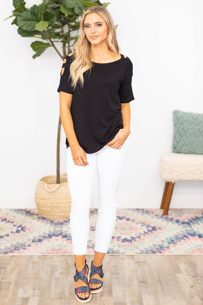 Stand Your Ground Top in Black - Filly Flair